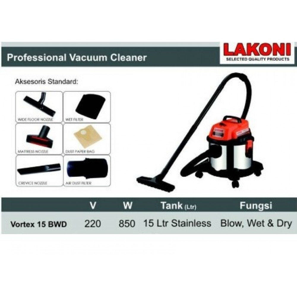 Vacuum Cleaner Lakoni Vortex 15 BWD